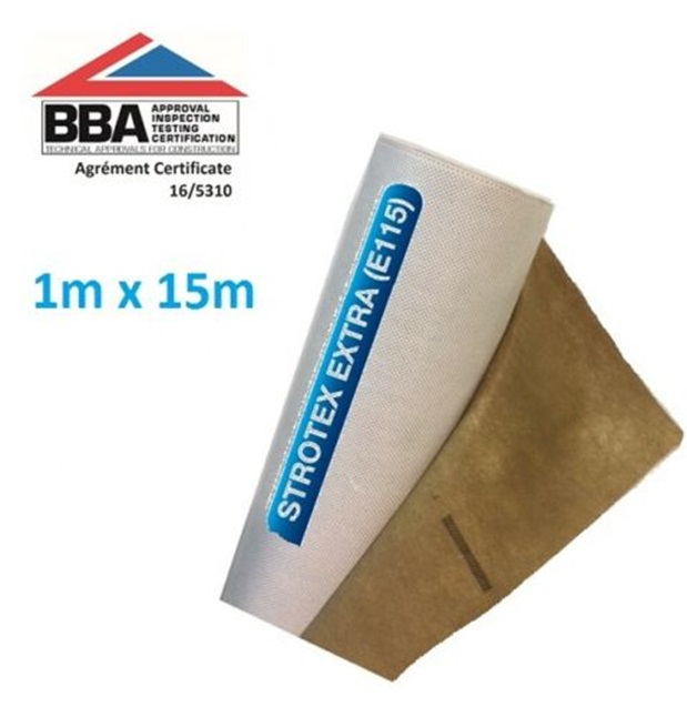 Strotex Extra Breathable Roof Membranes 105 gsm 1m x 15m